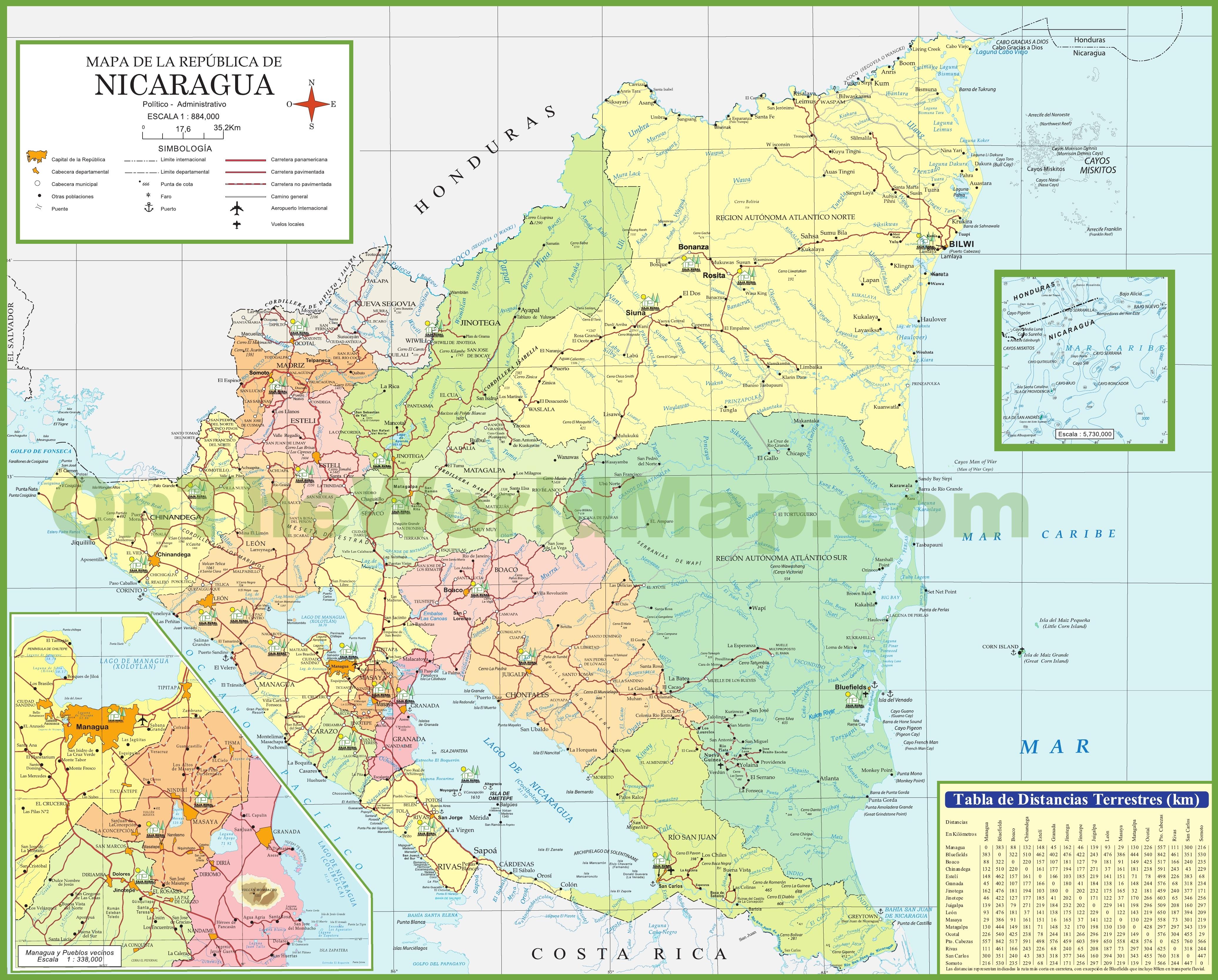 Nicaragua Maps Maps of Nicaragua