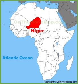 Niger location on the Africa map