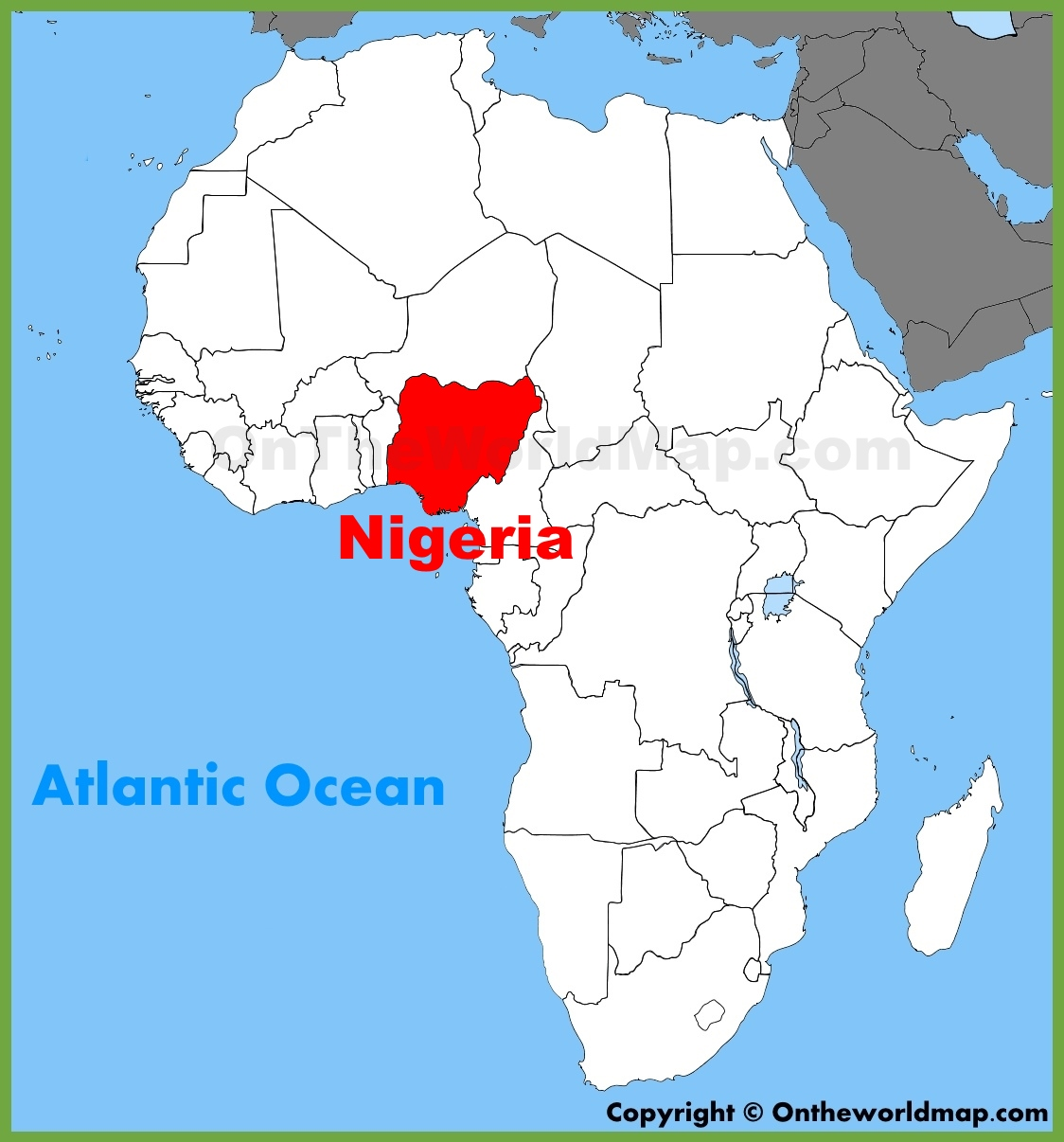 Where Is Nigeria On A Map Nigeria location on the Africa map