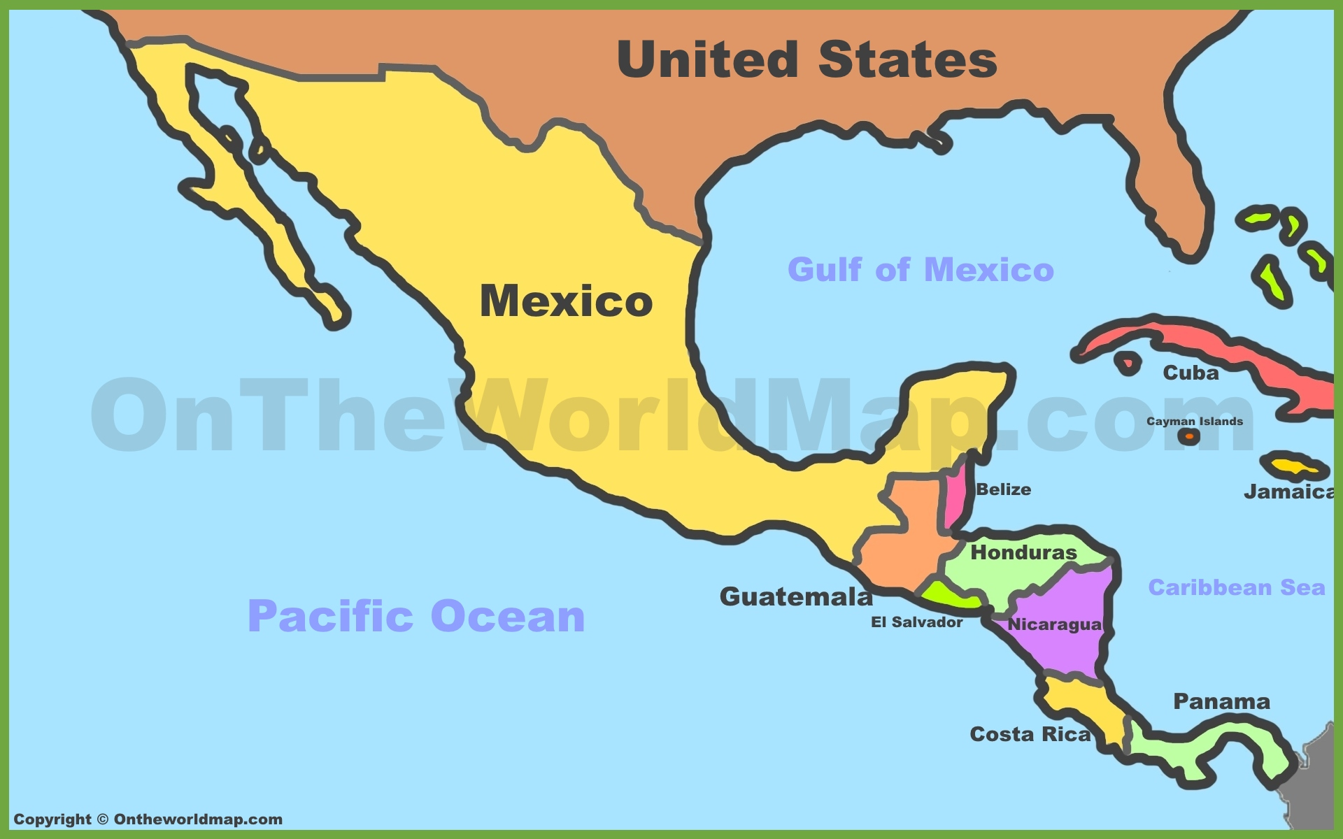 Mexico Central America Map Map of Mexico and Central America
