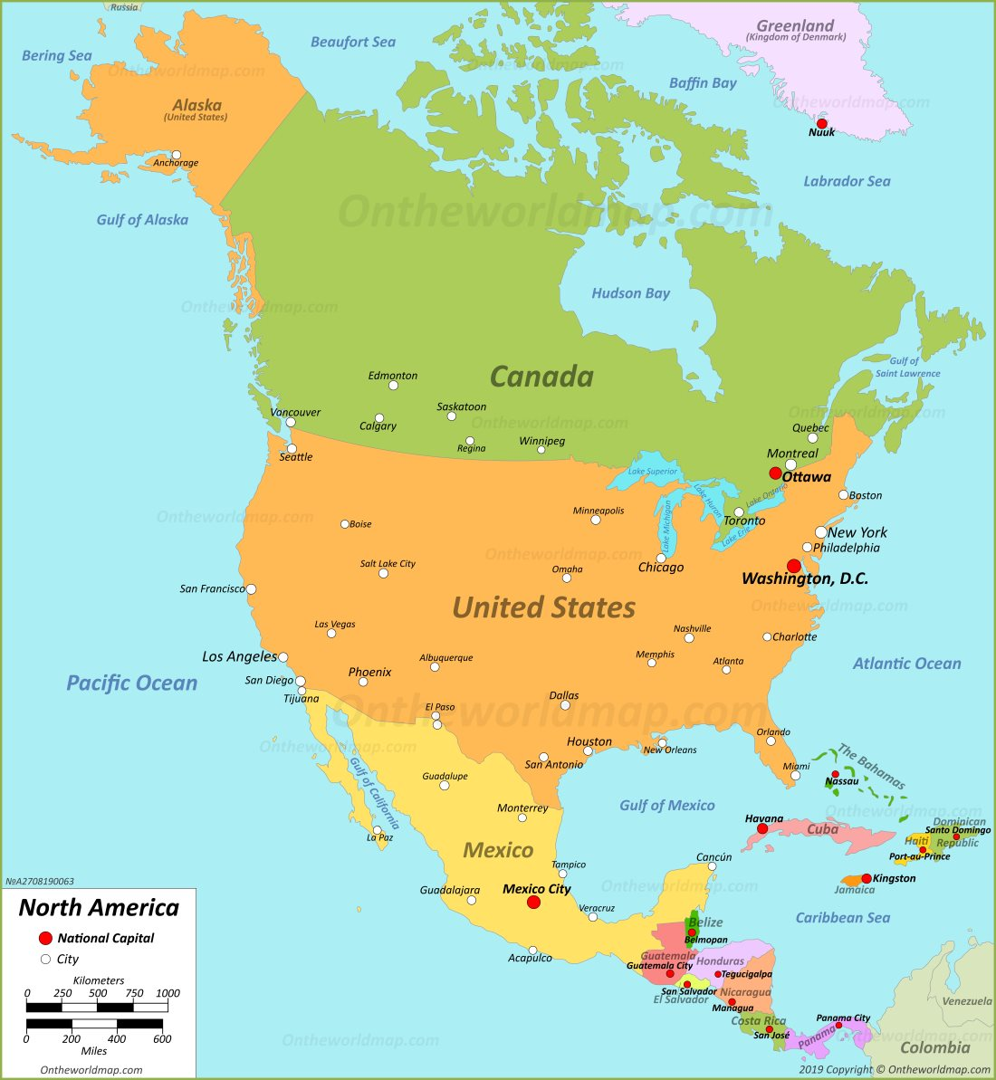 North America Maps Maps Of North America