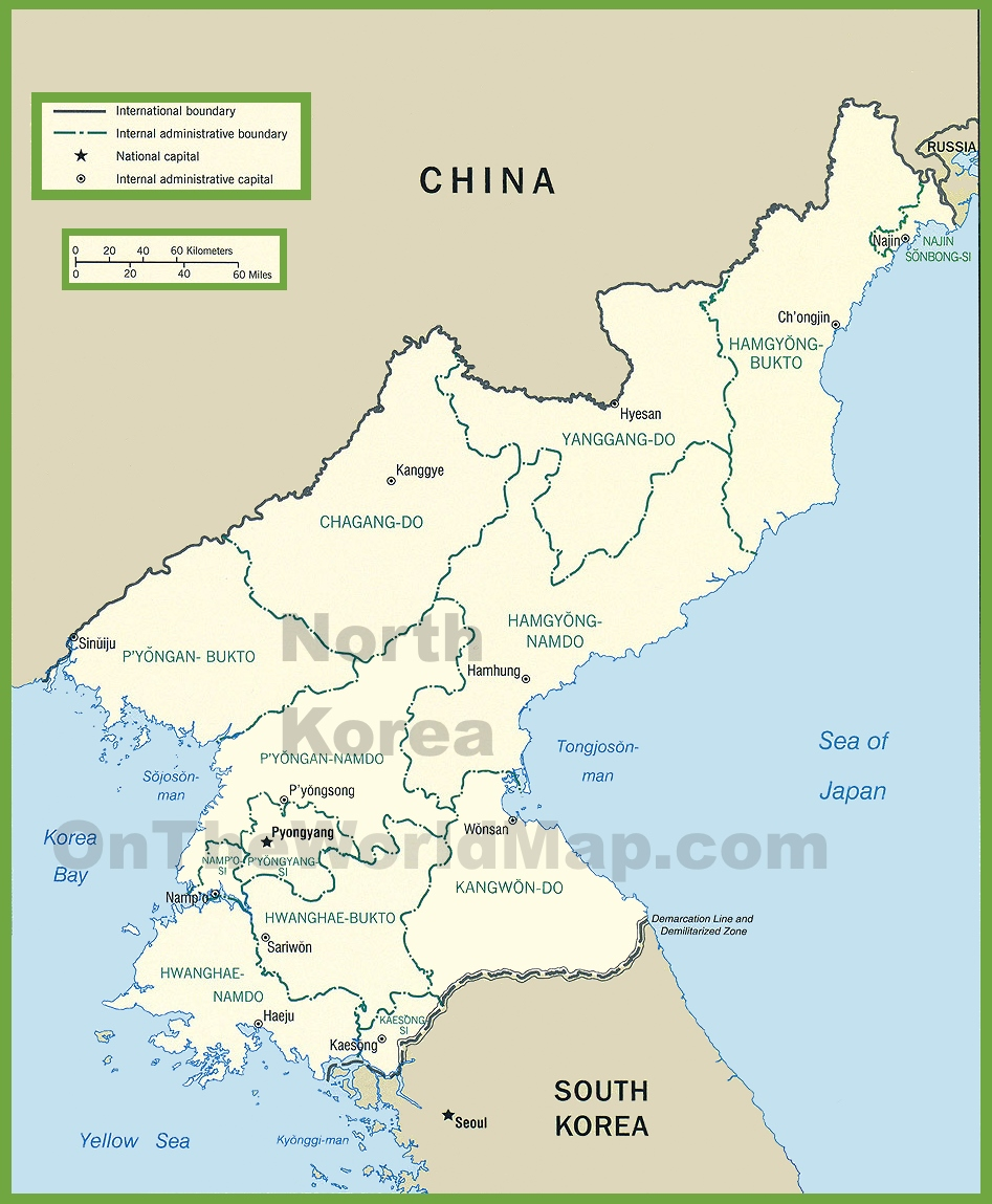 North Korea Maps Maps Of North Korea Dprk