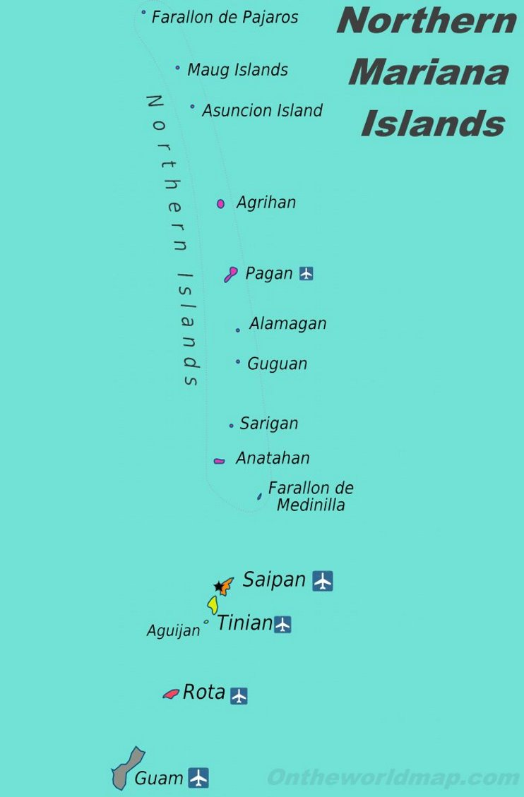 Northern Mariana Islands political map