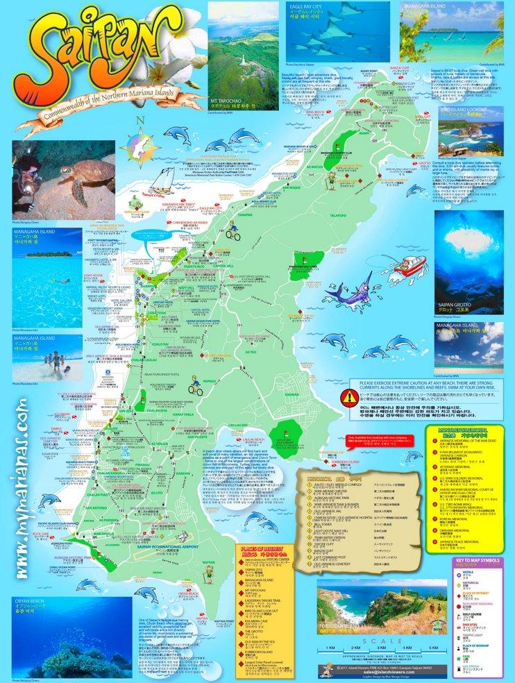 Saipan tourist map