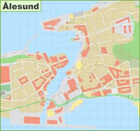 Ålesund city center map