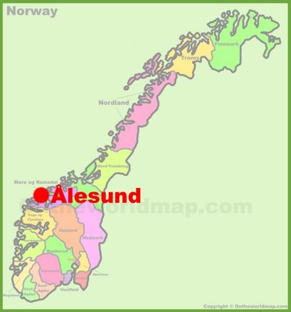 Ålesund Location Map