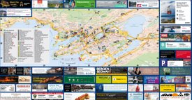 Bergen tourist map