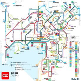 Oslo bus map