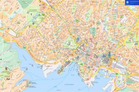Oslo hotels and sightseeings map