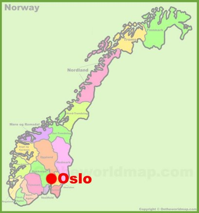 Oslo Location Map