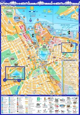 Stavanger tourist map