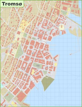 Tromsø city center map