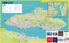 Tromsø Island tourist map