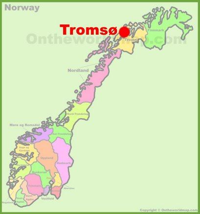 Tromsø Location Map