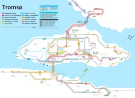 Tromsø transport map