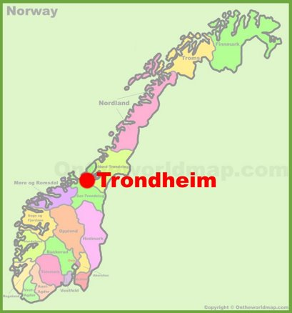 Trondheim Location Map