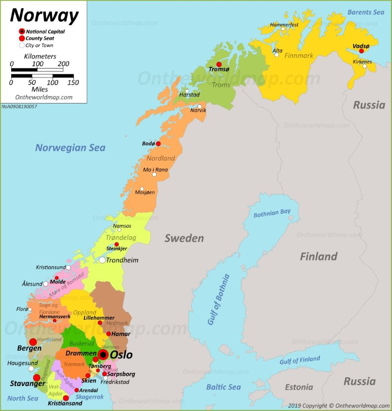 photograph regarding Printable Map of Norway identified as Norway Maps Maps of Norway