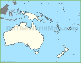 Blank map of Oceania