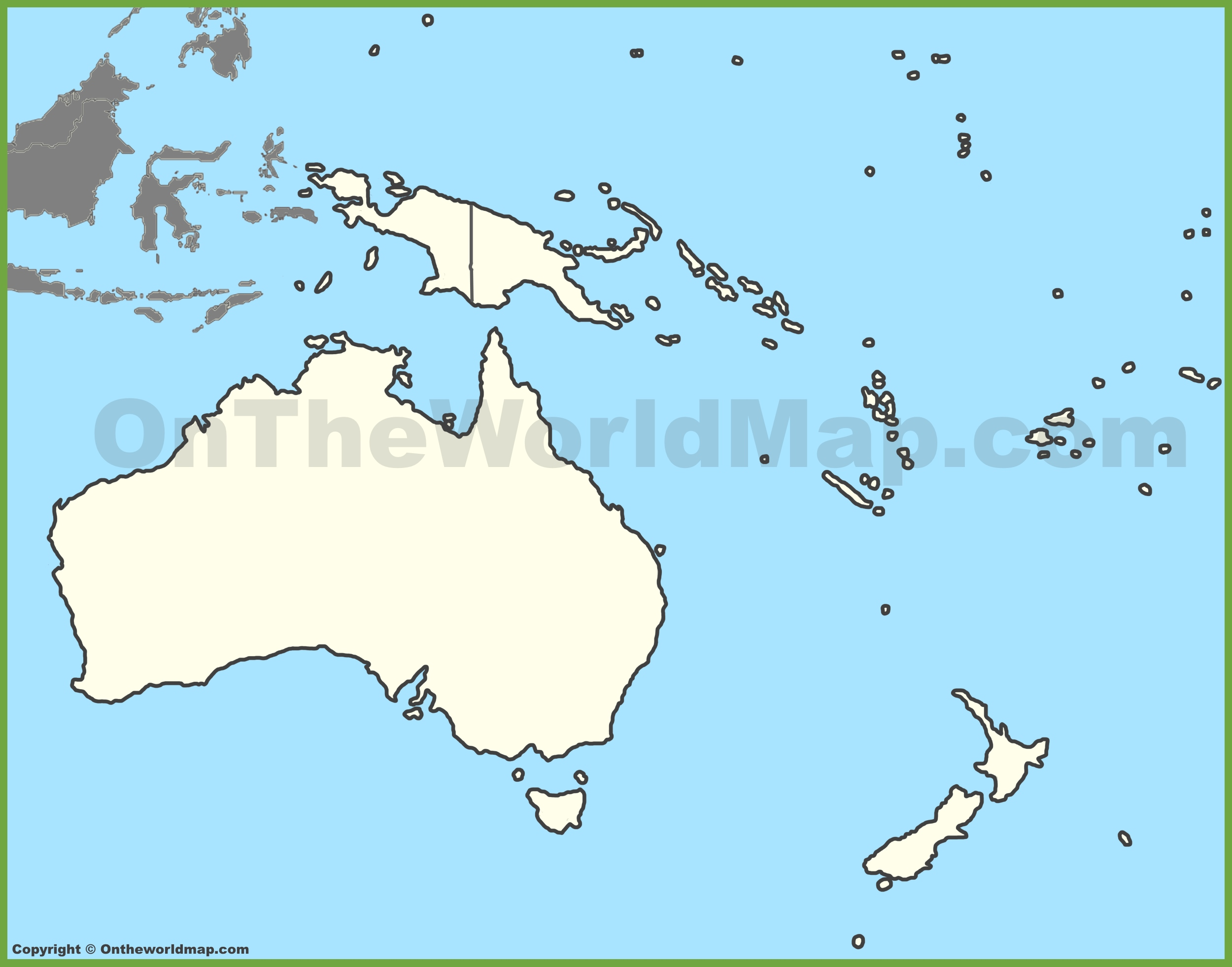 Blank Map Of Oceania - France map images blank