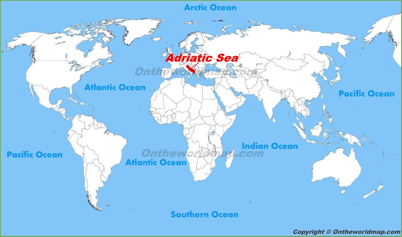 Map Of Adriatic Sea Adriatic Sea Maps | Maps of Adriatic Sea Map Of Adriatic Sea
