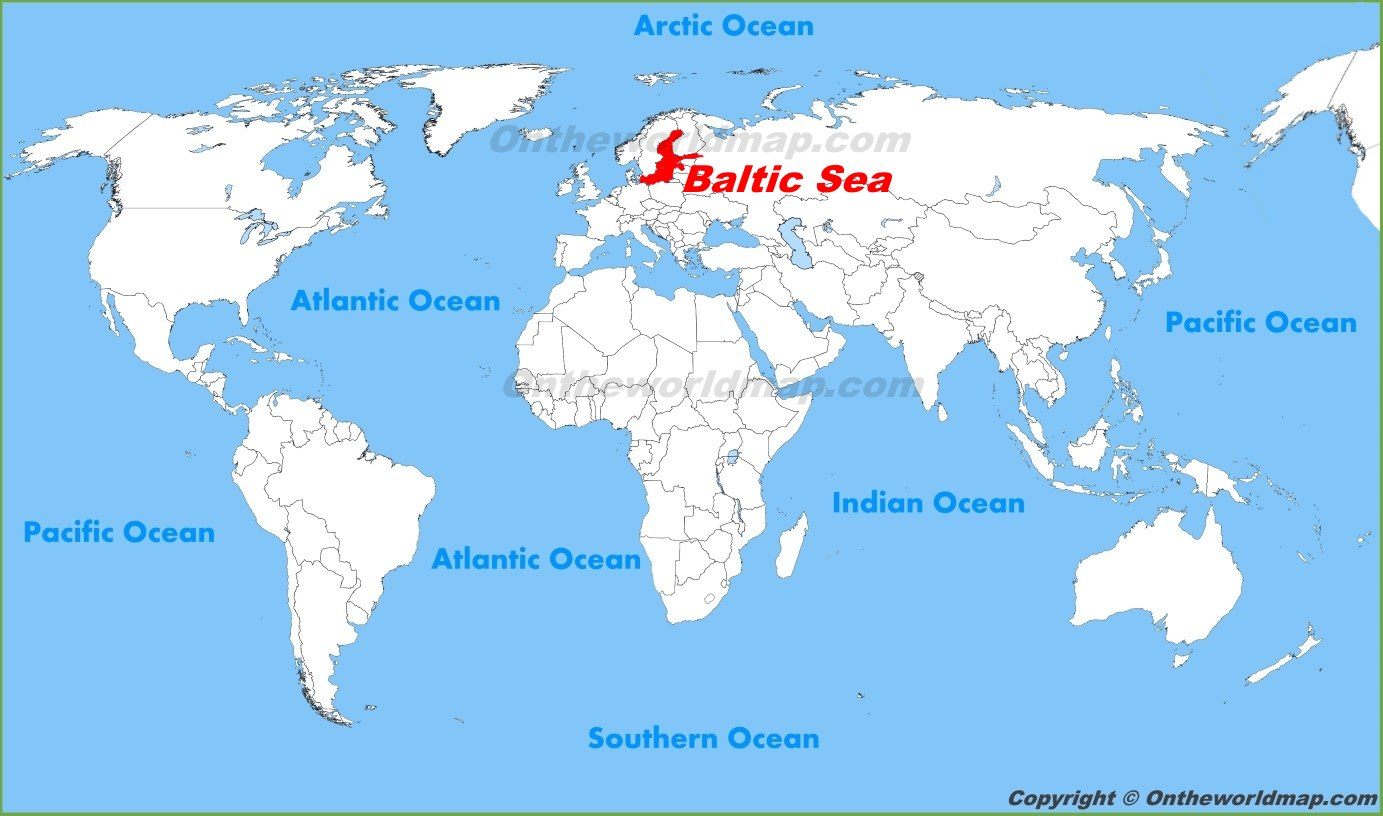 Baltic Sea location on the World Map