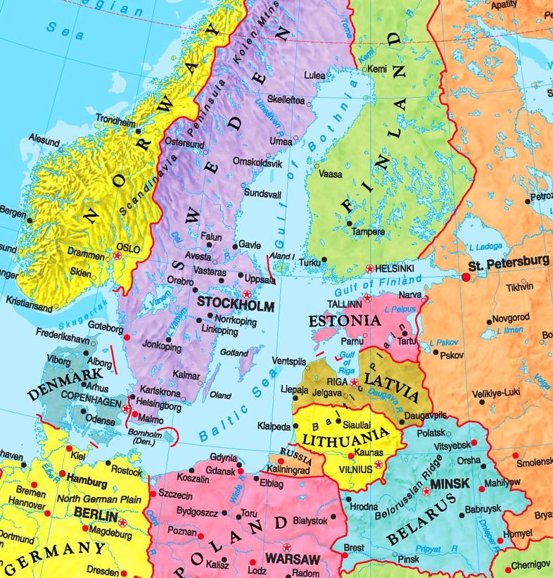 Baltic Sea Map Baltic Sea political map Baltic Sea Map