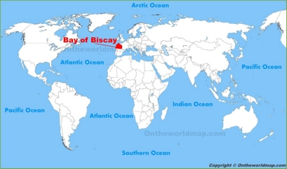 Bay of Biscay Location Map