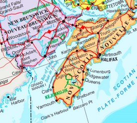 Bay of Fundy area map