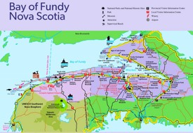 Bay of Fundy tourist map