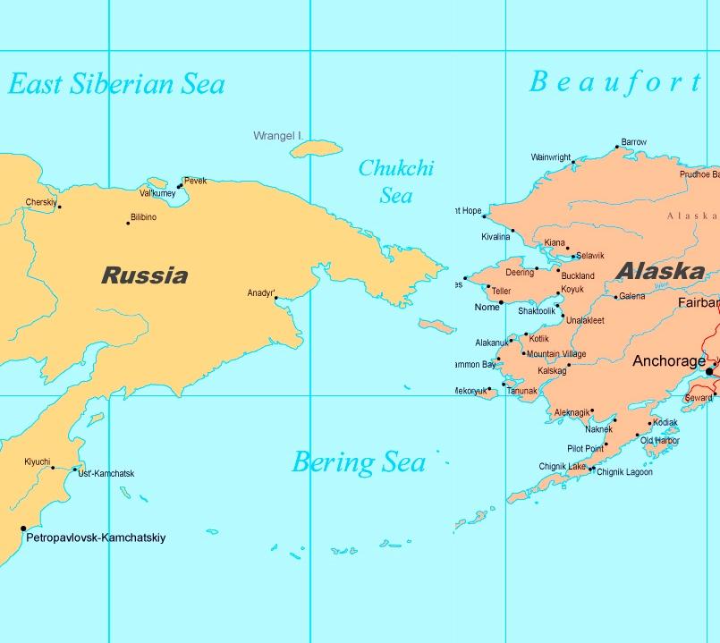 ... Bering Sea Political Map