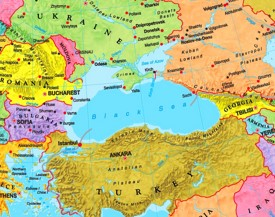 Black Sea political map