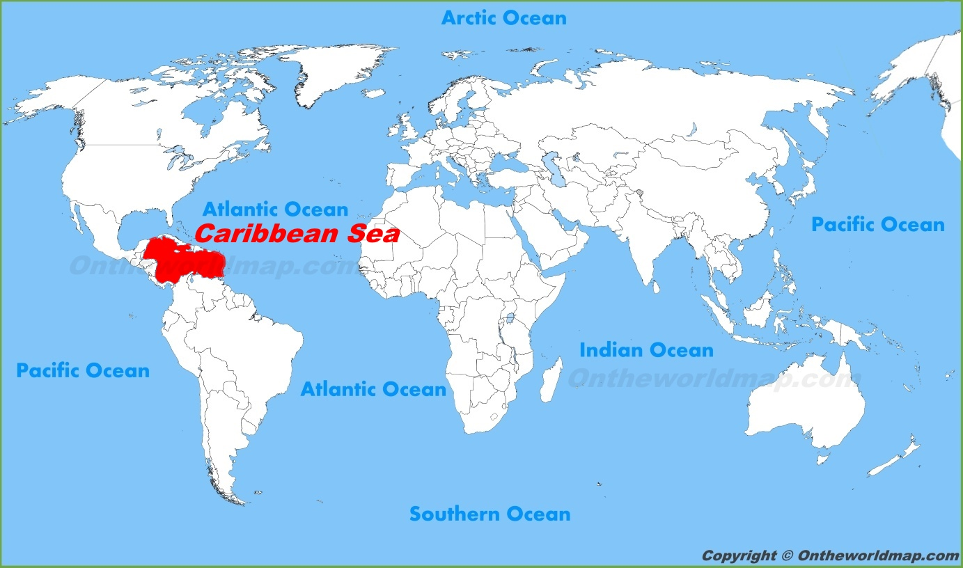 Map Of The Caribbean Sea Caribbean Sea Maps | Maps of Caribbean Sea