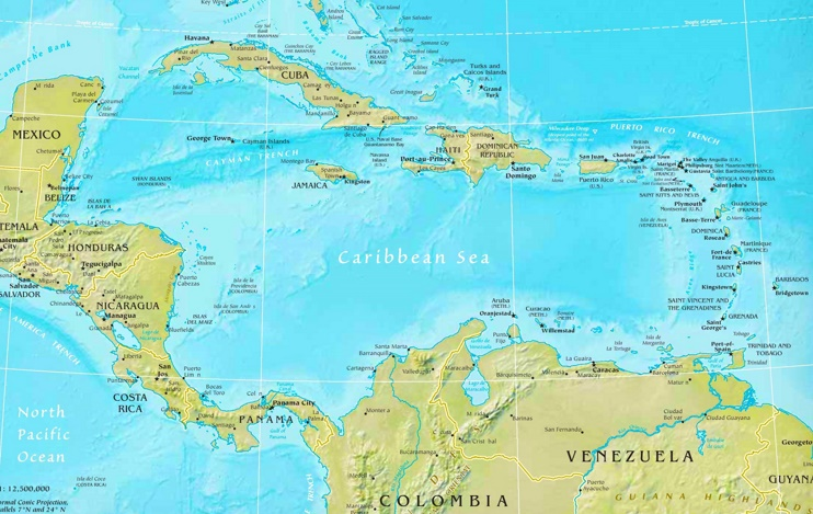 Caribbean Sea Maps | Maps of Caribbean Sea