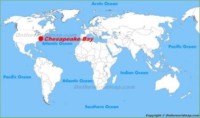 Chesapeake Bay Location Map