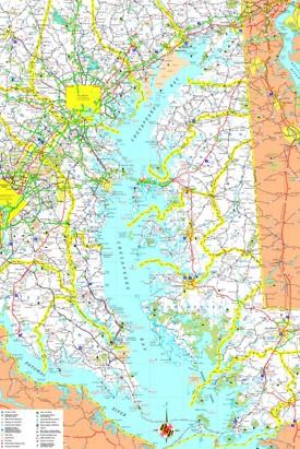 Chesapeake Bay Maps Maps of Chesapeake Bay