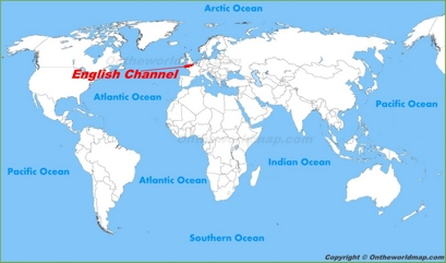 English Channel Location Map