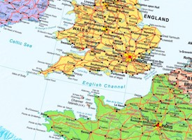 English Channel political map
