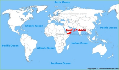 Gulf of Aden Location Map