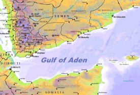 Gulf of Aden physical map