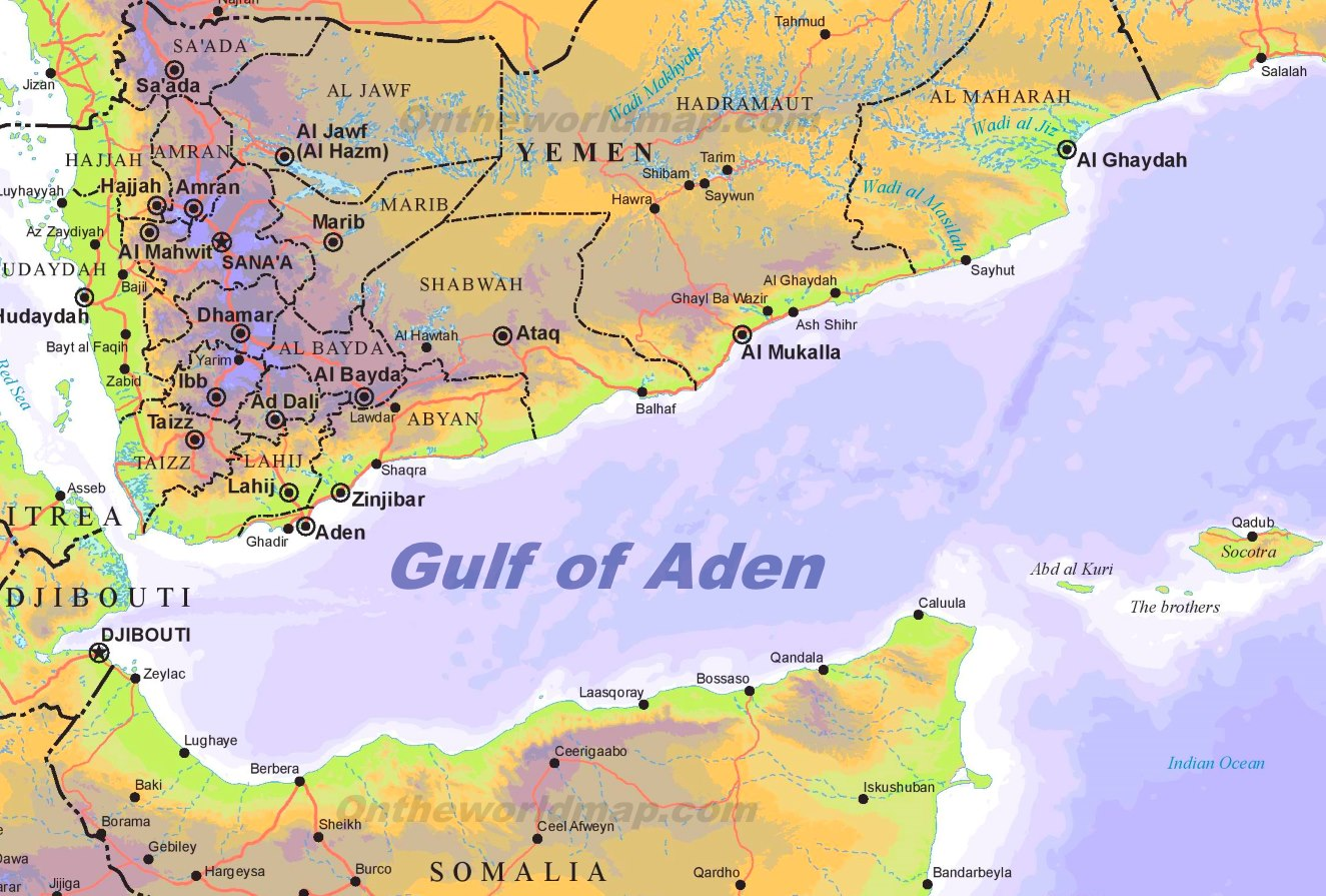 Gulf of Aden Maps | Maps of Gulf of Aden