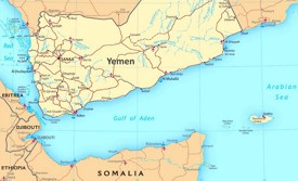 Gulf of Aden political map