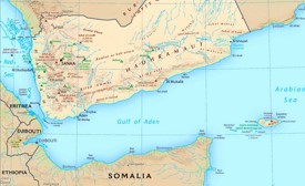 Gulf of Aden tourist map
