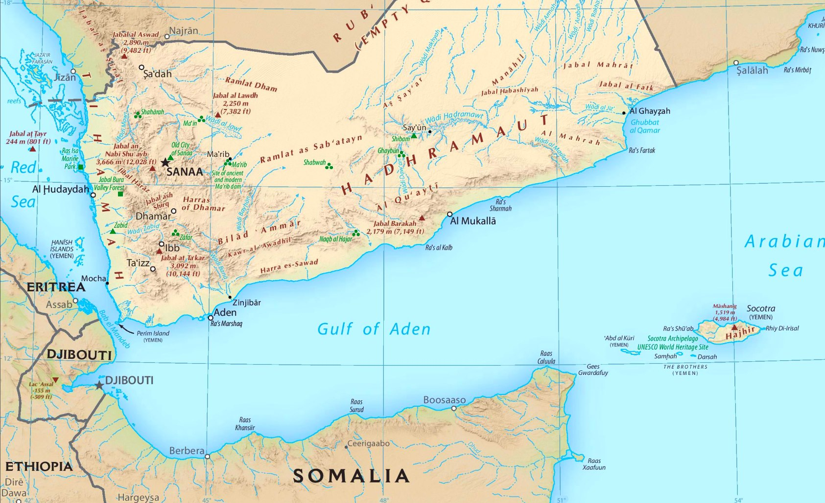 Gulf Of Aden Maps Maps Of Gulf Of Aden