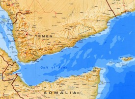 Large detailed map of Gulf of Aden