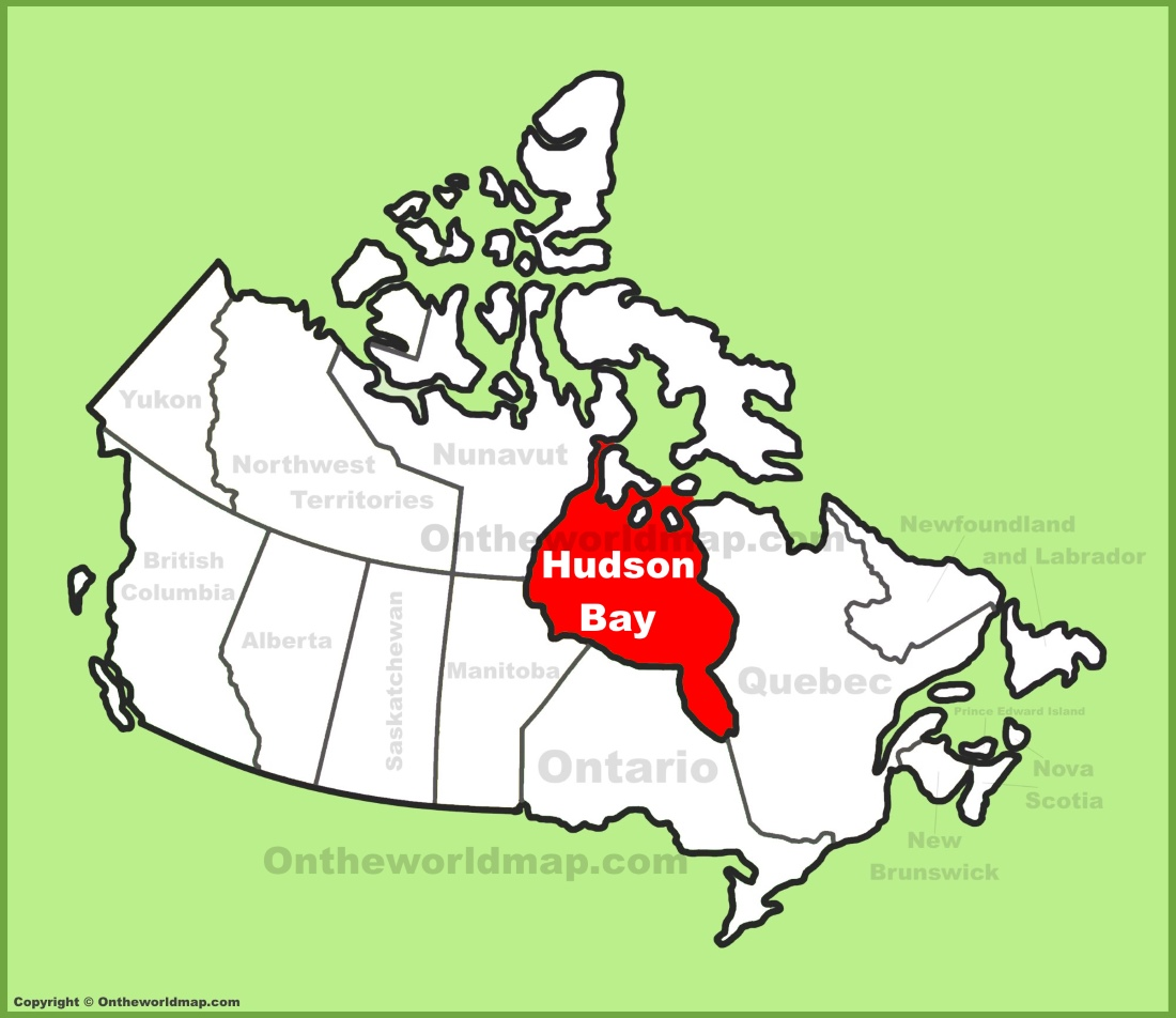 Hudson Bay On Map Of Canada Hudson Bay location on the Canada map
