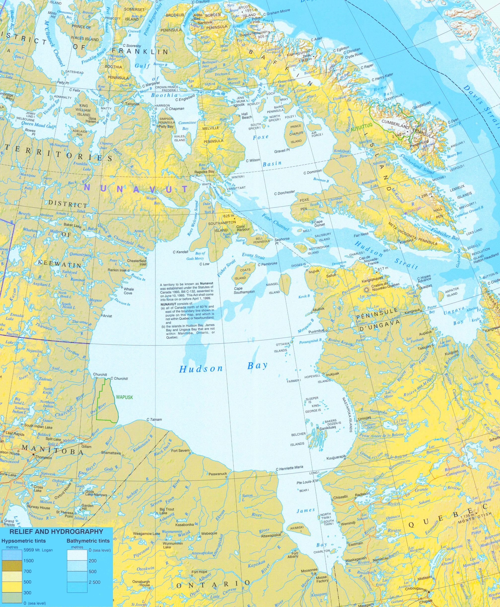 Hudson bay physical map hudson bay physical map gumiabroncs Choice Image