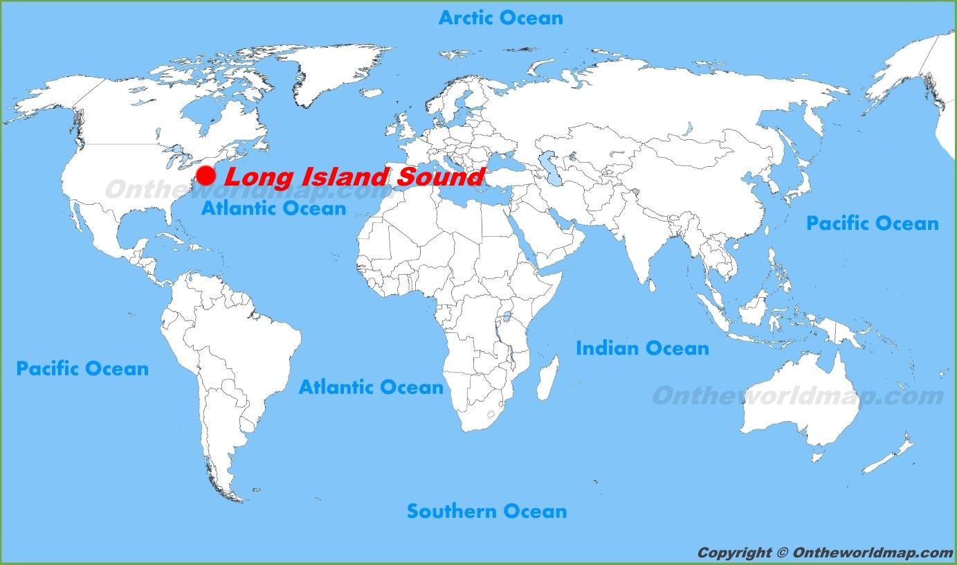 Long Island Map Long Island Sound location on the World Map Long Island Map