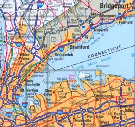 Long Island Sound road map