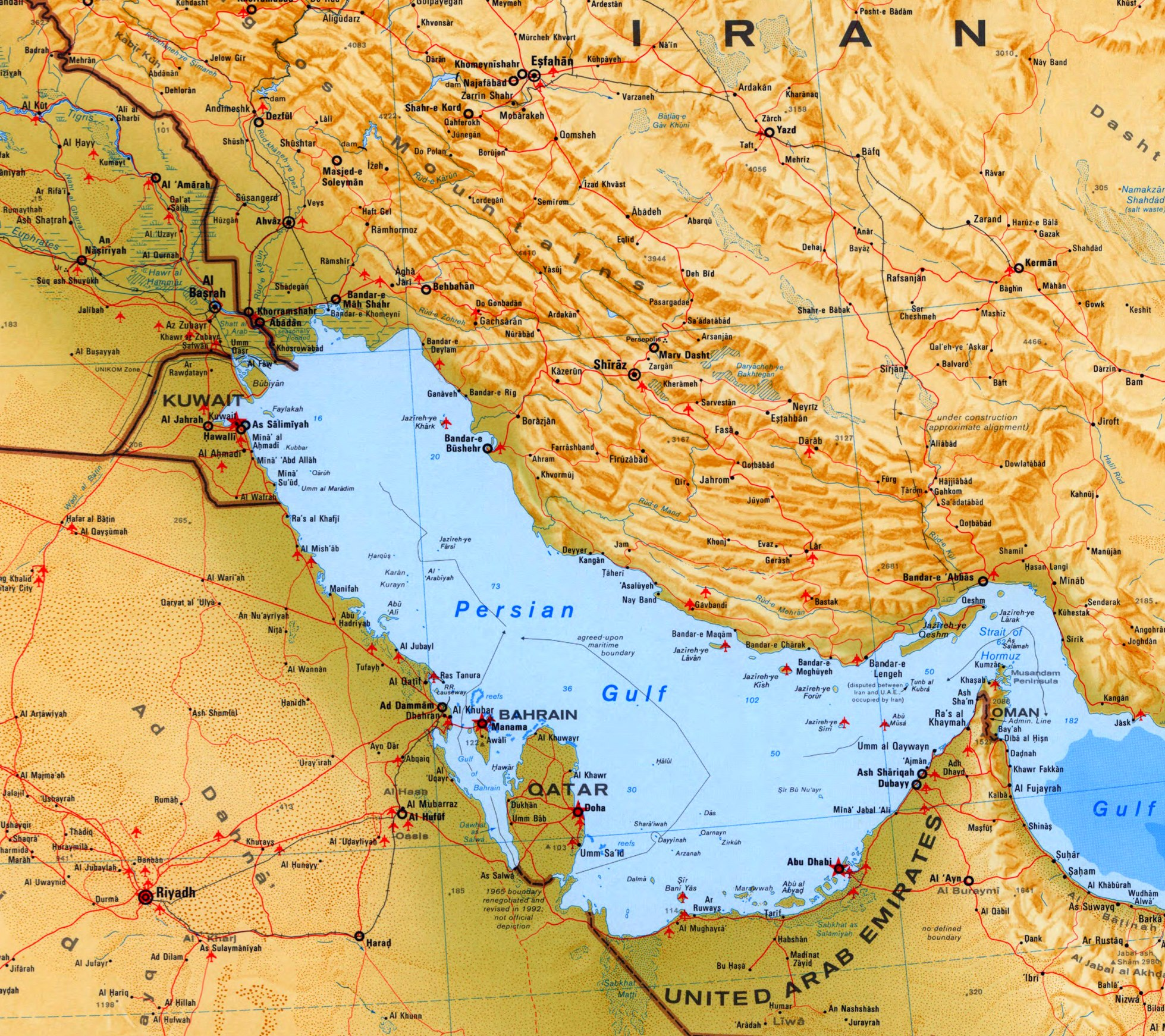 Persian Gulf Maps Maps of Persian Gulf