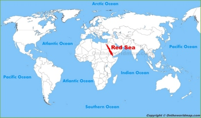 Red Sea Location Map